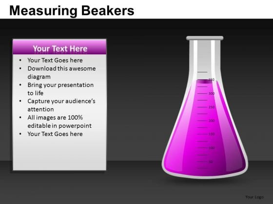 Completely Full Liquid Flask PowerPoint Templates Editable Ppt Slides