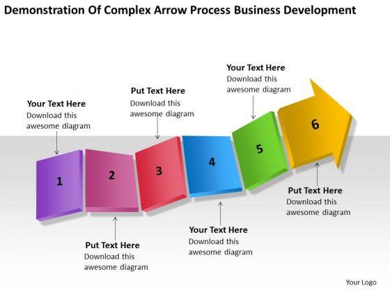 Complex Arrow Process Business Development Ppt Plan PowerPoint Slides
