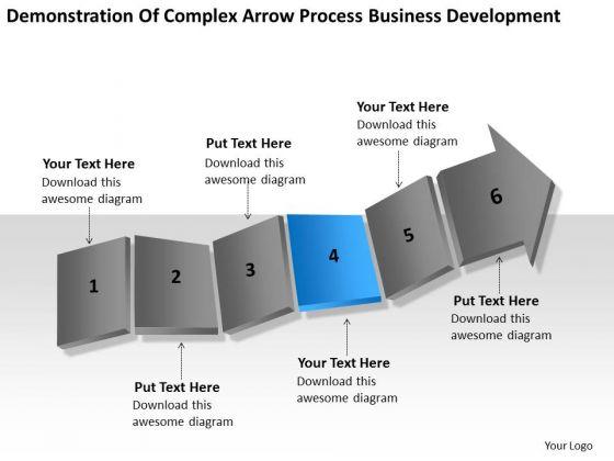 Complex Arrow Process Business Development Ppt Plans Template PowerPoint Templates