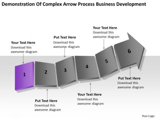 Complex Arrow Process Business Development Ppt Simple Plan PowerPoint Slides