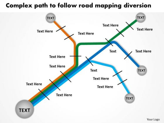 Complex Path To Follow Road Mapping Diversion PowerPoint Templates Ppt Slides Graphics