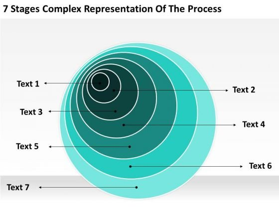 Complex Representation Of The Process Printable Business Plan Template PowerPoint Templates