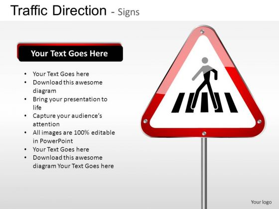 Compulsory Traffic Direction PowerPoint Slides And Ppt Diagram Templates