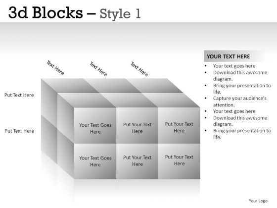 Computer 3d Blocks 1 PowerPoint Slides And Ppt Diagram Templates