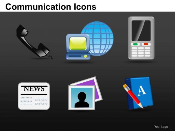 Computer Communication Icons PowerPoint Slides And Ppt Diagram Templates