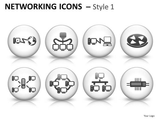 Computer Internet Networking Icons Graphics Clipart For PowerPoint