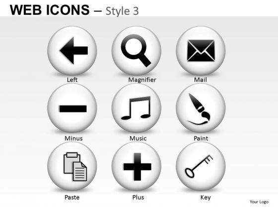 Computer Internet Web Icons PowerPoint Slides And Ppt Diagram Templates