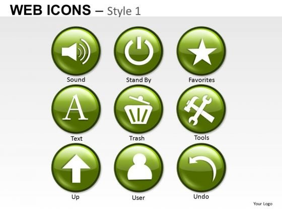 Computer Web Icons PowerPoint Slides And Ppt Diagram Templates