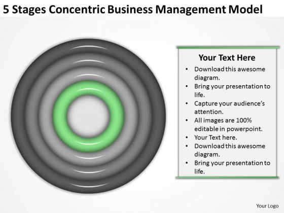 Concentric Business Managment Model Ppt Examples Of Plan PowerPoint Slides