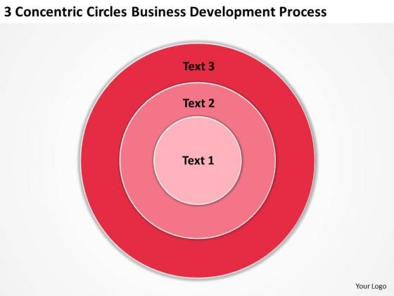 Concentric Circles Business Development Process Samples Of Plans PowerPoint Slides