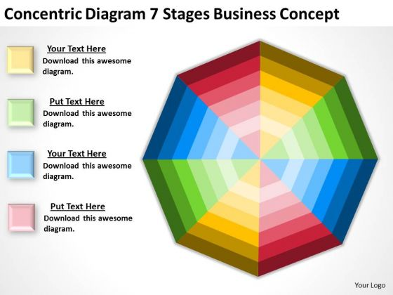Concentric Diagram 7 Stages Business Conceptt Ppt Sample Proposal PowerPoint Templates