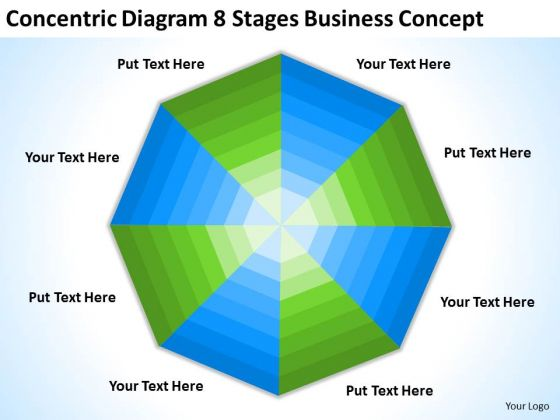 Concentric Diagram 8 Stages Business Concept Ppt Plan Downloads PowerPoint Slides
