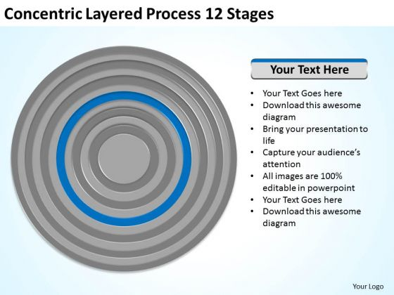 Concentric Layered Process 12 Stages Business Examples PowerPoint Templates