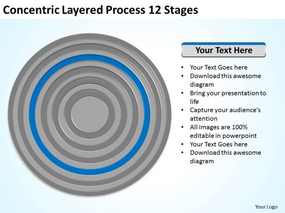 Concentric Layered Process 12 Stages Business Plan Layout Template PowerPoint Templates