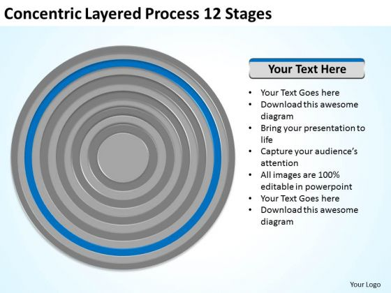 Concentric Layered Process 12 Stages Ppt Business Plan Download PowerPoint Slides