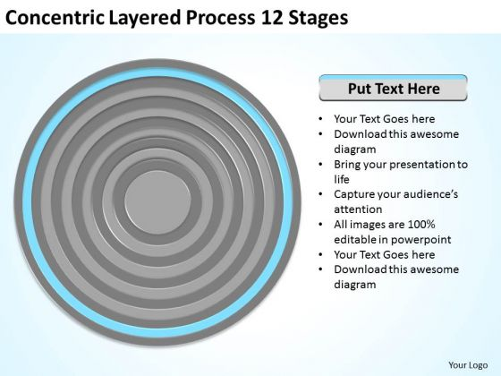 Concentric Layered Process 12 Stages Ppt Business Plan Marketing PowerPoint Templates