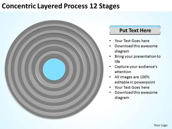 Concentric Layered Process 12 Stages Ppt Business Plan Outline Template PowerPoint Slides