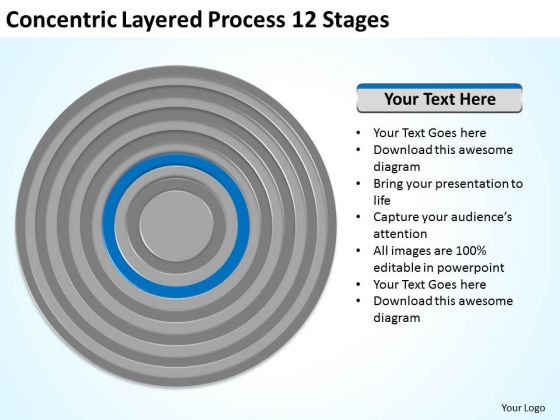 Concentric Layered Process 12 Stages Ppt Business Plan PowerPoint Template