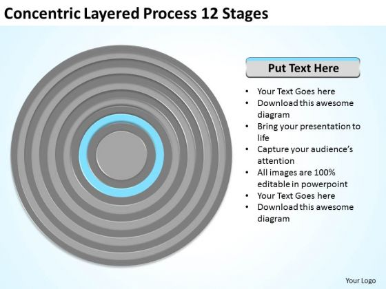 Concentric Layered Process 12 Stages Ppt Business Plan PowerPoint Templates