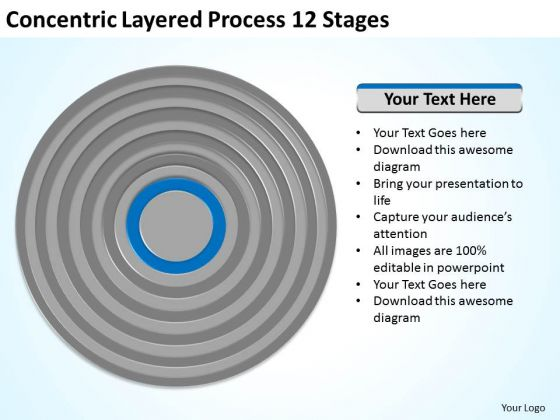 Concentric Layered Process 12 Stages Ppt Business Plans How To PowerPoint Templates