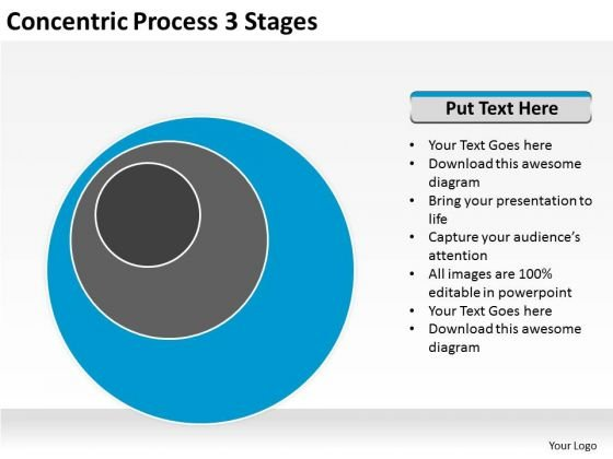 Concentric Process 3 Stages Ppt Sample Business Plan PowerPoint Slides