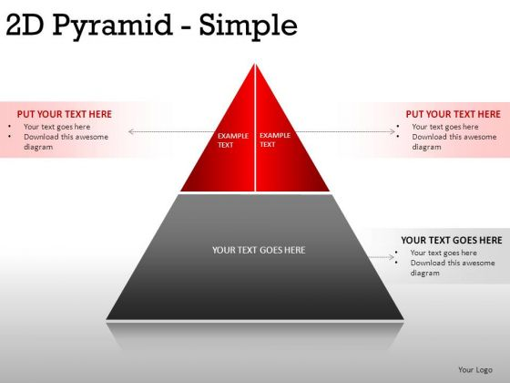 Concept 2d Pyramid Simple PowerPoint Slides And Ppt Diagram Templates