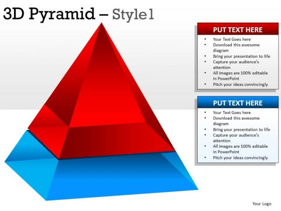 Concept 3d Pyramid 1 PowerPoint Slides And Ppt Diagram Templates