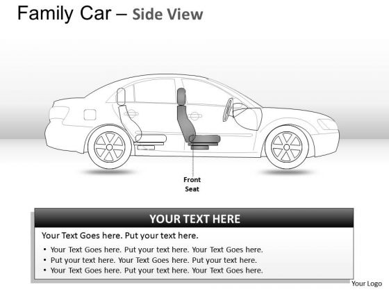 Concept Blue Family Car Side View PowerPoint Slides And Ppt Diagram Templates