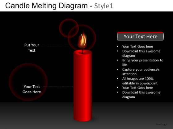 Concept Candle Melting Diagram 1 PowerPoint Slides And Ppt Diagram Templates