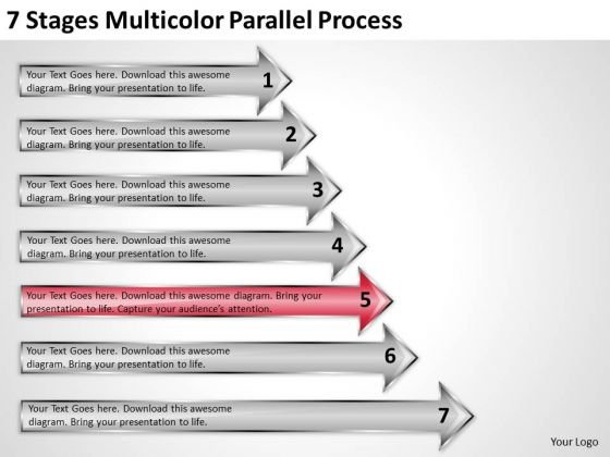 Concept Of Parallel Processing 7 Stages Multicolor PowerPoint Slides