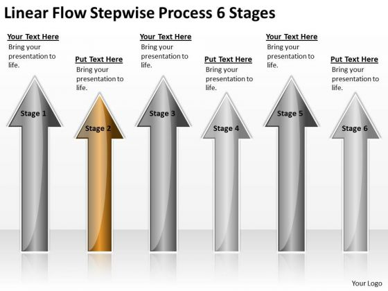 Concept Of Parallel Processing Linear Flow Stepwise 6 Stages PowerPoint Slide