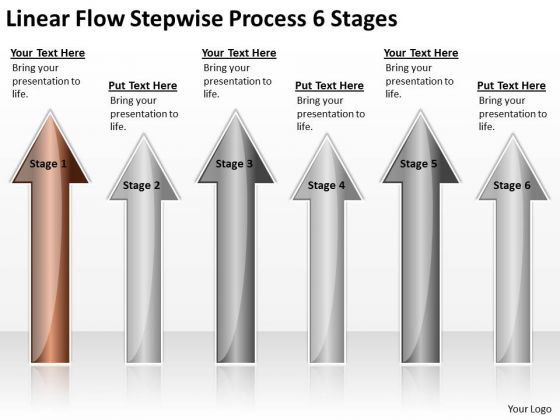 Concept Of Parallel Processing Linear Flow Stepwise 6 Stages Ppt PowerPoint Slides
