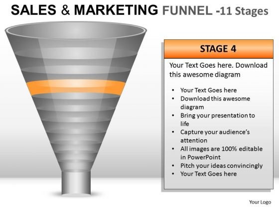 Concept Sales And Marketing Funnel 11 PowerPoint Slides And Ppt Diagram Templates