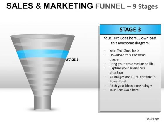 Concept Sales And Marketing Funnel 9 PowerPoint Slides And Ppt Diagram Templates