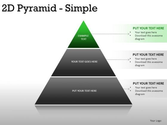 Conceptual 2d Pyramid Simple PowerPoint Slides And Ppt Diagram Templates