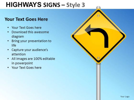 Conceptual Decisions Highways Signs 3 PowerPoint Slides And Ppt Diagram Templates