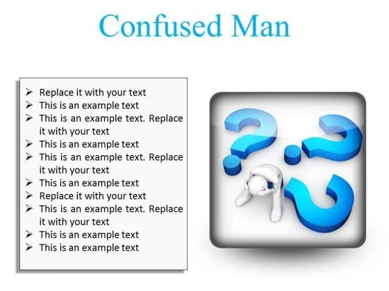 Confused Man Business PowerPoint Presentation Slides S