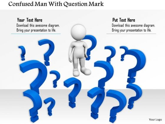Confused Man With Question Mark PowerPoint Templates