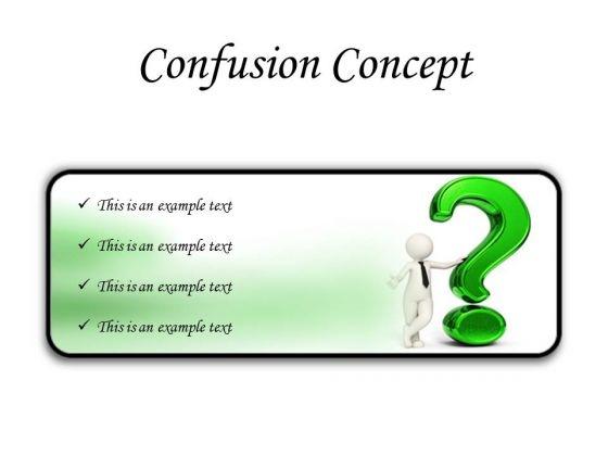 Confusion Concept Symbol PowerPoint Presentation Slides R