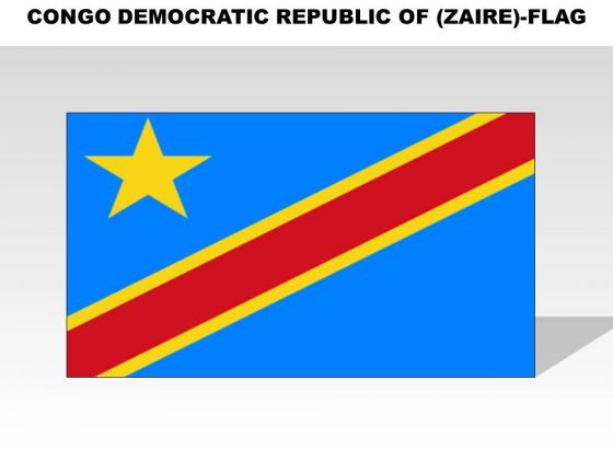 Congo Democratic Republic Of Zaire Country PowerPoint Flags