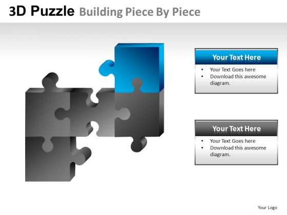 Connect Puzzle Pieces To Show Process PowerPoint Slides And Ppt Diagram Templates