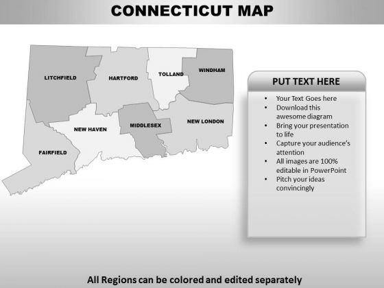 Connecticut PowerPoint Maps