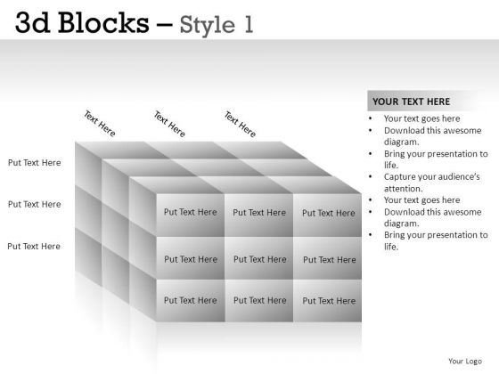 Connection 3d Blocks 1 PowerPoint Slides And Ppt Diagram Templates