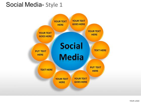 Connection Social Media 1 PowerPoint Slides And Ppt Diagram Templates