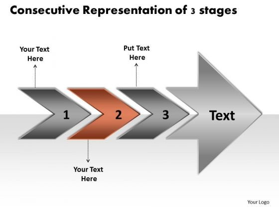 Consecutive Representation Of 3 Stages Ppt Flowchart PowerPoint Templates