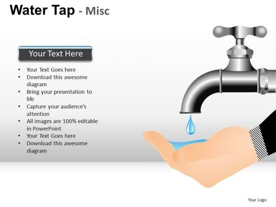 Conserving Water PowerPoint Slides Graphics