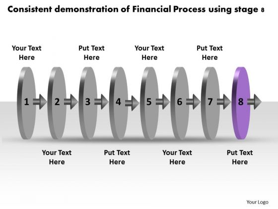 Consistent Demonstration Of Financial Process Using Stage 8 Product Flow Chart PowerPoint Slides