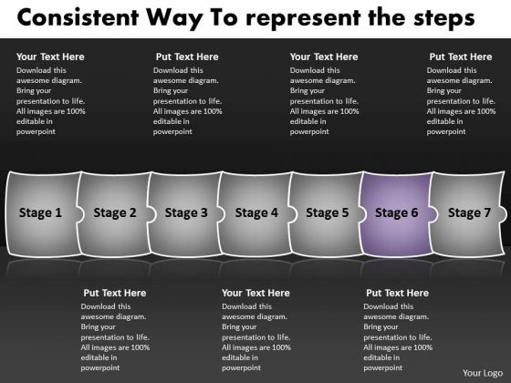 Consistent Way To Represent The Steps Flow Chart System PowerPoint Slides