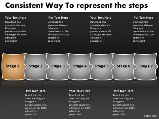 Consistent Way To Represent The Steps Tech Support Process Flow Chart PowerPoint Slides