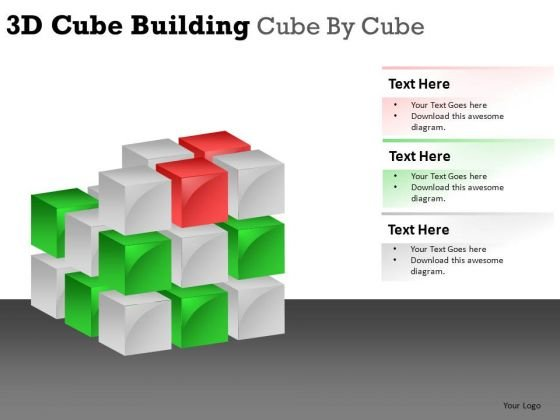 Construction 3d Cube Building PowerPoint Slides And Ppt Diagram Templates
